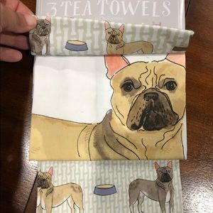 New Set of 3 French Bulldog Tea Towels